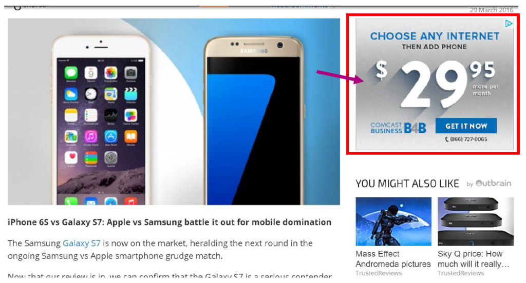 Display advertising example