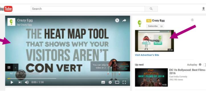 Display ad on youtube
