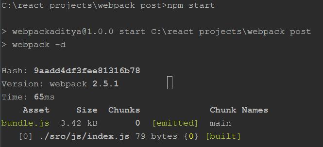 webpack compiles