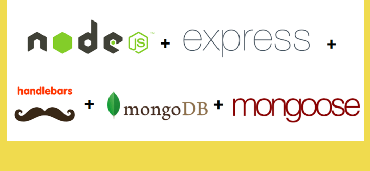 NodeJS Application with Express - Handlebars and Mongoose