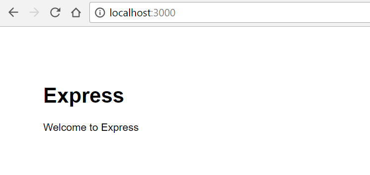 welcome express page